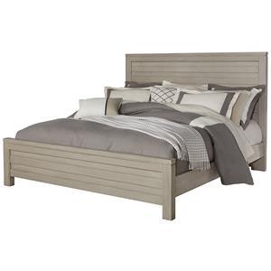 Vaughan Bassett Kismet Queen Planked Panel Bed