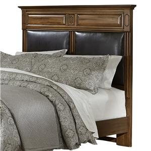 Vaughan Bassett Knightsbridge Queen Mansion Headboard with Bonded Leather