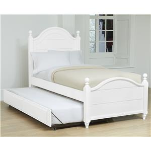Vaughan Bassett Nantucket Twin Poster Bed with Trundle