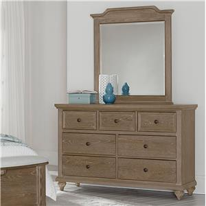 Vaughan Bassett Nantucket Dresser & Youth Landscape Mirror