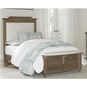 Vaughan Bassett Nantucket Twin Upholstered Bed with Bench Footboard