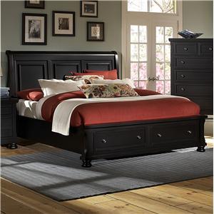 Vaughan Bassett Reflections Queen Storage Bed with Sleigh Headboard