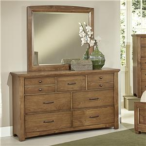 Vaughan Bassett Transitions Dresser & Landscape Mirror