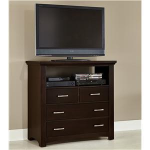 Vaughan Bassett Transitions Media Chest - 4 drawers