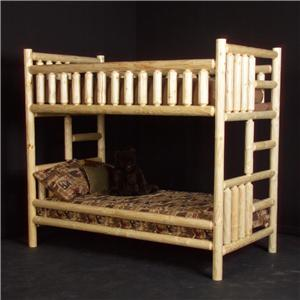 NorthShore by Becker Log Furniture Twin/Twin Log Bunk Bed