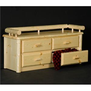 NorthShore by Becker Log Furniture Northwoods Deacons Bench