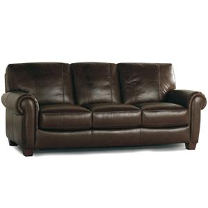 Becker 1950 Leather Traditional Sofa