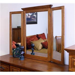 Madison Manor Oak Classics Tri View Mirror