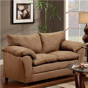Casual Pillow Top Loveseat