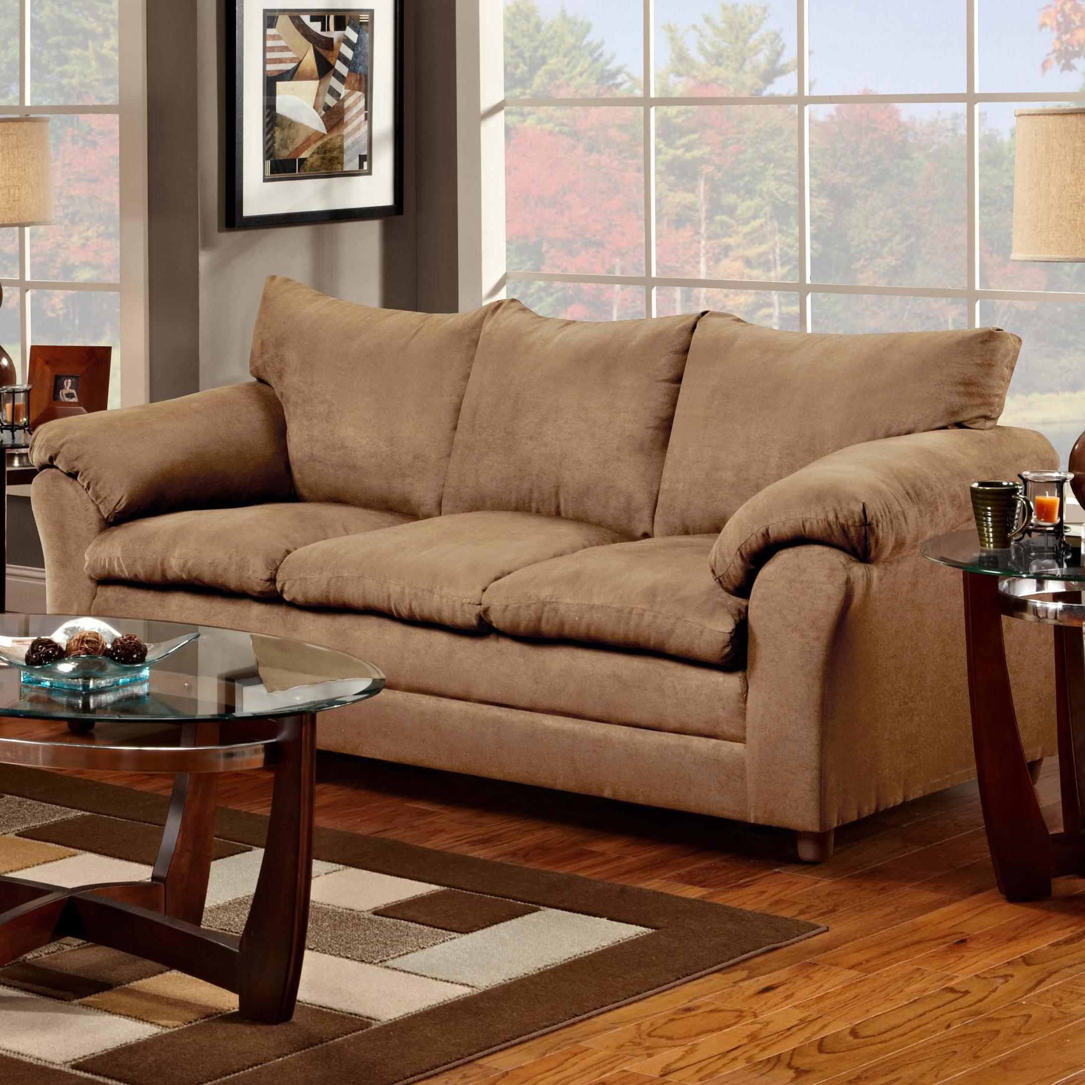 Casual Pillow Top Three Seat Sofa
