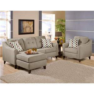 ... Furniture 2600 Maxwell Gray Maxwell Gray Sofa at Great American Home