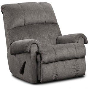 Casual Rolled Arm Recliner