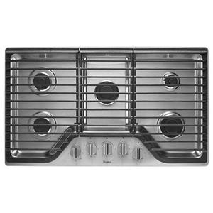 "Whirlpool Cooktops - 2014 36"" 5 Burner Gas Cooktop"
