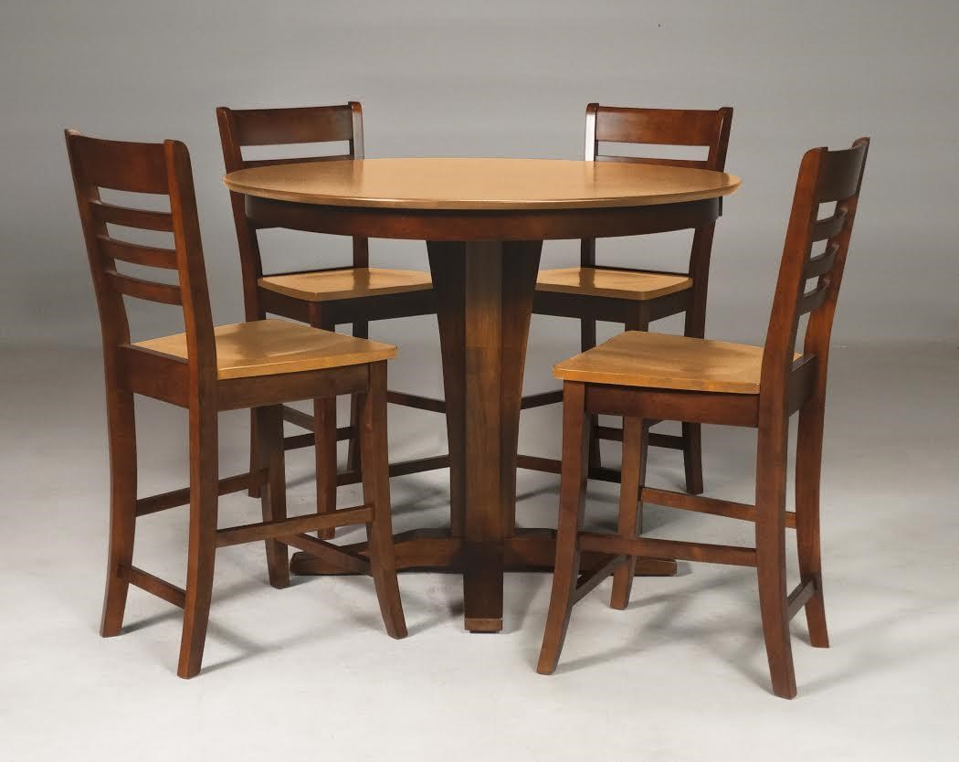 5 pc -Gathering Height Table with 4 Stools