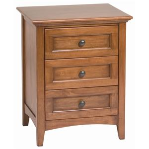 Whittier Wood McKenzie 3 Drawer Nightstand