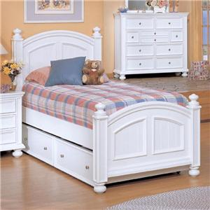 Winners Only Cape Cod  Twin Panel Bed with Trundle