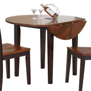 Winners Only Contemporary Farmhouse Drop Leaf Kitchen Table
