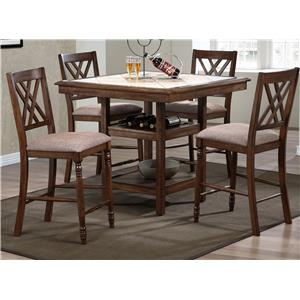Winners Only Florence 5 Piece Counter Dining Set