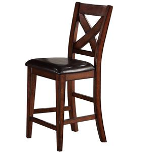 Winners Only Kingston  X Back Counter Height Bar Stool