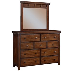 Winners Only Mango 9-Drawer Dresser and Mirror Set