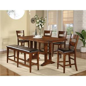 Winners Only Mango 6 Piece Pub Table and Barstool Set