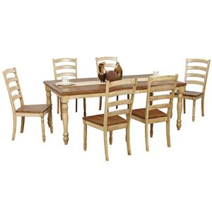 Winners Only Quails Run 7 Piece Dining Table and Chair Set
