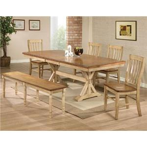 Winners Only Quails Run 6 Piece Table, Chair, and Bench Set