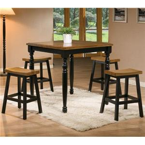 Winners Only Quails Run 5 Piece Tall Table and Barstool Set