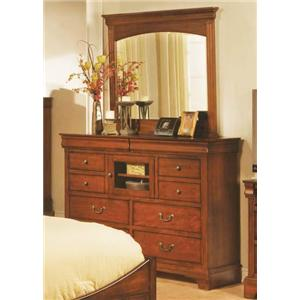 Winners Only Renaissance Ten Drawer Tall Dresser and Mirror