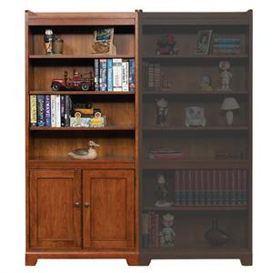 """Winners Only Topaz  72"""" Open Bookcase with Doors"""
