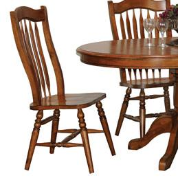 Winners Only Classic Cognac Dining Side Chairs