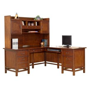 """Winners Only Willow Creek 68"""" Desk with 43"""" Return and 63"""" Hutch"""