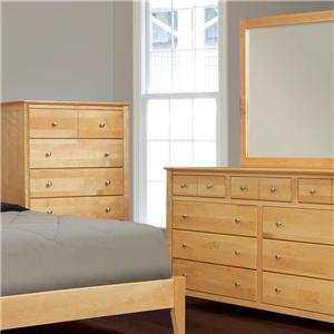 Witmer Furniture Stratford Dresser and Mirror