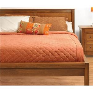 Witmer Furniture Taylor J Queen Size 2 Panel Tall Platform Bed