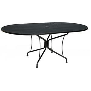 Woodard Fullerton Oval Umbrella Table
