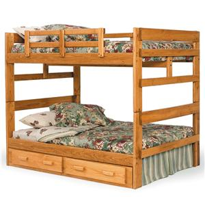 Woodcrest Heartland BR Full/Full Bunk Bed with Center Support