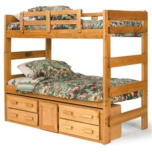 Woodcrest Heartland BR Extra Tall Bunk Bed with Drawer Storage