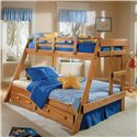 Woodcrest Heartland BR Twin/Full Size A-Frame Bunk Bed - Item Number: A2650