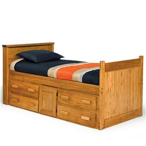 Woodcrest Heartland BR Full Captain's Bed