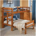 Woodcrest Heartland BR L-Shaped Bunk Bed - Item Number: CC-2600