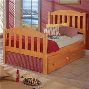 Woodcrest Pine Ridge Full Mission Bed