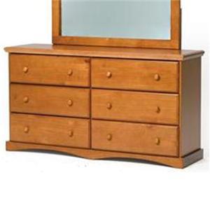 Woodcrest Pine Ridge 6-Drawer Dresser