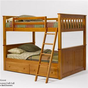 Woodcrest Pine Ridge Full/Full Panel Bunk Bed
