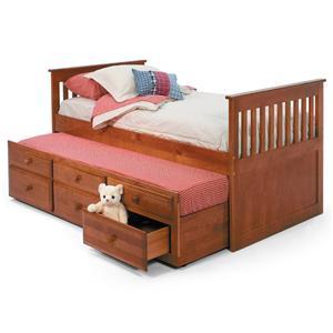 Woodcrest Pine Ridge Twin Storage Trundle Bed