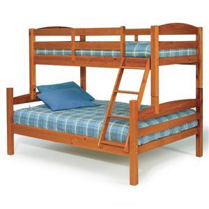 Woodcrest Pine Ridge Twin Full Bunk Bed