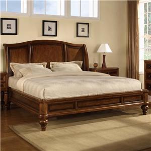 Flexsteel Wynwood Collection Brendon Queen Sleigh Platform Bed