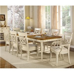 Flexsteel Wynwood Collection Garden Walk Nine-Piece Dining Table Set