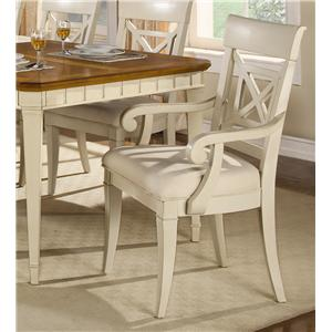Flexsteel Wynwood Collection Garden Walk Dining Arm Chair