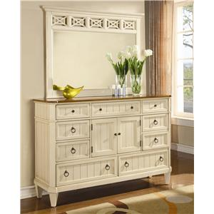 Flexsteel Wynwood Collection Garden Walk Dresser with Mirror