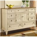 Flexsteel Wynwood Collection Garden Walk Dresser - Item Number: 6634-60